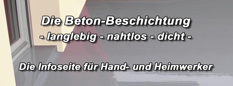 Betonbeschichtung - Betonfarbe versiegeln abdichten außen ...